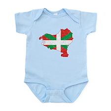 Basque Flag And Map Infant Bodysuit