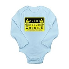 caution-witchwork-fixed1.png Long Sleeve Infant Bo