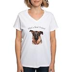 Man's Best Friend Women's V-Neck T-Shirt