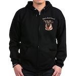 Man's Best Friend Zip Hoodie (dark)