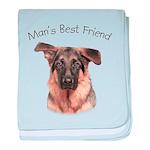 Man's Best Friend baby blanket