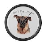 Man's Best Friend Large Wall Clock