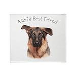 Man's Best Friend Throw Blanket
