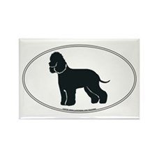 Irish Water Spaniel Silhouette Rectangle Magnet