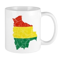 Bolivia Flag And Map Mug
