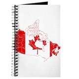 Canada Flag And Map Journal