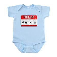 Hello My name is Amelia Infant Bodysuit