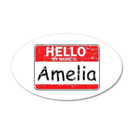 Hello My name is Amelia 20x12 Oval Wall Decal