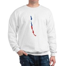 Chile Flag And Map Sweatshirt