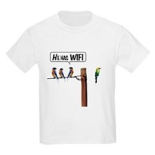 He has WiFi T-Shirt