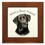 Man's Best Friend Framed Tile