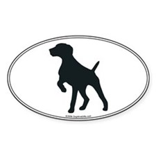 GS Pointer Silhouette Oval Decal