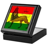 Rasta Lion of Judah Keepsake Box