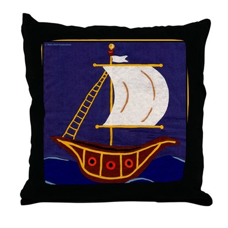 Sailing Ships or Tall Ship Throw Pillow