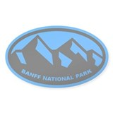 Banff National Park Oval (Sticker)
