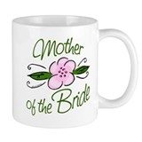 Pink Flower Mother of Bride Mug