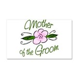 Pink Flower Mother of Groom Car Magnet 20 x 12