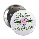 Pink Flower Mother of Groom 2.25&amp;quot; Button