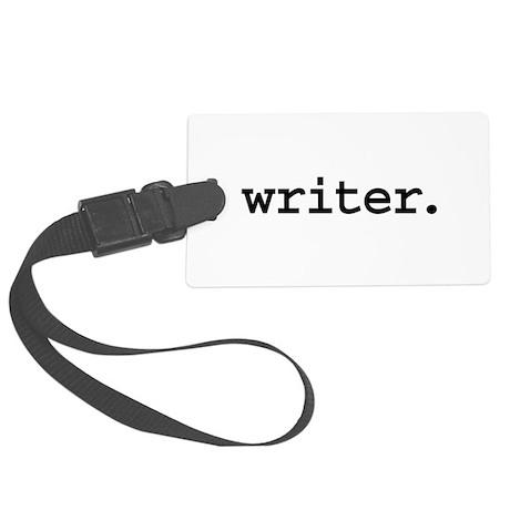 writer.jpg Large Luggage Tag