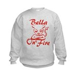 Bella On Fire Kids Sweatshirt