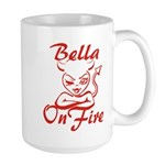 Bella On Fire Large Mug