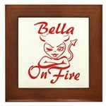 Bella On Fire Framed Tile