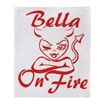 Bella On Fire Throw Blanket