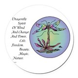 dragon fly II.png Round Car Magnet