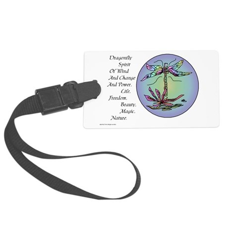 dragon fly II.png Large Luggage Tag