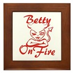 Betty On Fire Framed Tile