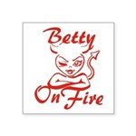 Betty On Fire Square Sticker 3