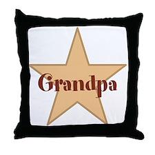 Grandpa, Star. Throw Pillow