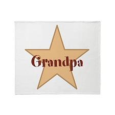 Grandpa, Star. Throw Blanket