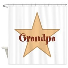 Grandpa, Star. Shower Curtain