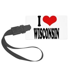 ilovewisconsinblk.png Luggage Tag