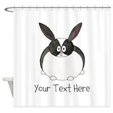 Dutch Rabbit. Custom Text. Shower Curtain