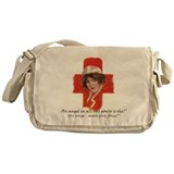 French Red Cross Poster Nurse Messenger Bag