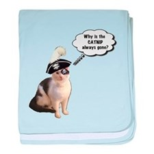 Catnip Always Gone baby blanket