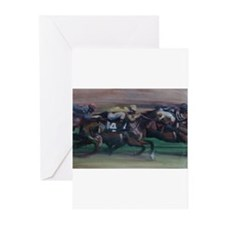 The Horse Race Greeting Cards (Pk of 10)