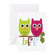 BFF Best Friends Forever Owls Greeting Card