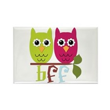 BFF Best Friends Forever Owls Rectangle Magnet (10