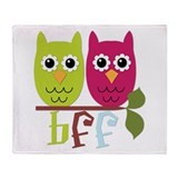 BFF Best Friends Forever Owls Throw Blanket