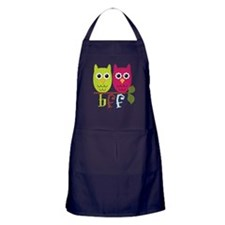 BFF Best Friends Forever Owls Apron (dark)