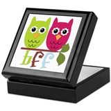 BFF Best Friends Forever Owls Keepsake Box