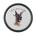 Man's Best Friend Large Wall Clock