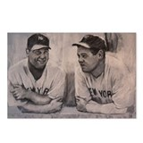 Babe Ruth Lou Gherig Postcards (Package of 8)
