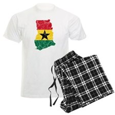 Ghana Flag And Map pajamas
