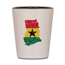 Ghana Flag And Map Shot Glass
