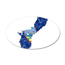 Guam Flag And Map Wall Decal