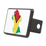 Guyana Flag And Map Rectangular Hitch Cover